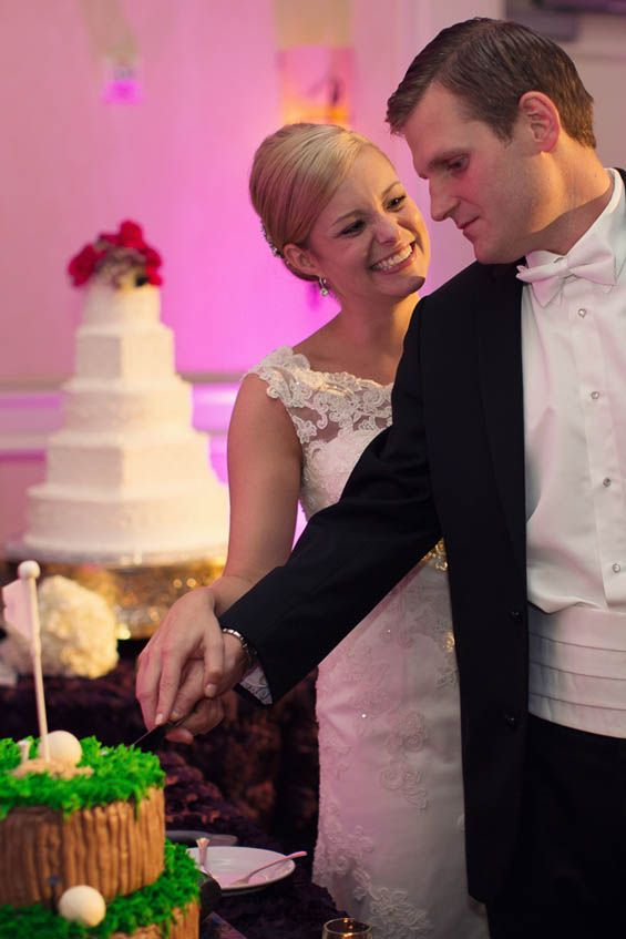 The groom's golf cake