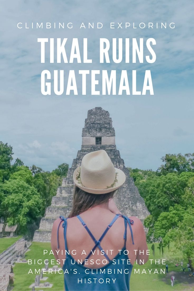 A travel guide to visiting Tikal Ruins in Guatemala. Tikal are the biggest UNESCO site in the America's. They are the first UNESCO site that are both natural and man made in Latin America. A must visit for central America. You can climb the Tikal Ruins