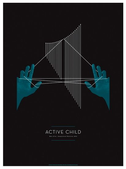 Active Child Sasquatch! concert poster by Invisible Creature