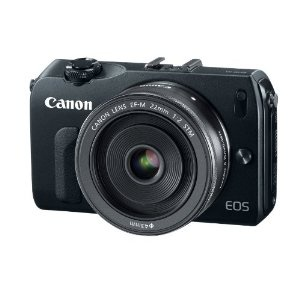 Canon EOS M 18.0 MP Compact Systems Camera with 3.0-Inch LCD and EF-M 22mm STM Lens    Debating about preordering it right now.. would be a nice replacement for my Olympus EP-1