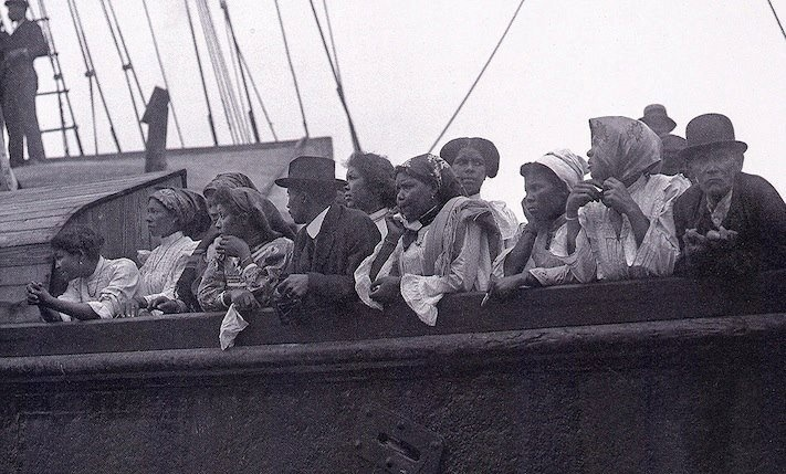 BLACK PAST PHOTO OF THE DAY: New Bedford, Massachusetts -- once one the most important whaling and fishing ports in world -- was settled in part by folks from Cape Verde, like those pictured here. Today, 8 percent of the town can trace its roots directly to Cape Verde, an archipelago of 10 islands located 350 miles off the coast of Western Africa. Shared from BlackPast.org