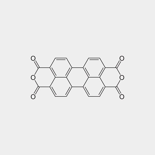 #Perylenetetracarboxylic dianhydride (#PTCDA) is an #organic #dye molecule and an organic #semiconductor. It is used as a precursor to a class of molecules known as #Rylene dyes which are useful as #pigments and dyes. It is a dark #red solid with low solubility in #aromatic solvents. The compound has attracted much interest as an organic semiconductor. (Wikipedia)  #orgo #organicchemistry #chemistry #moleculeoftheday #staynerdy #science #molecule #molecules #beautifulchemistry #chemist…