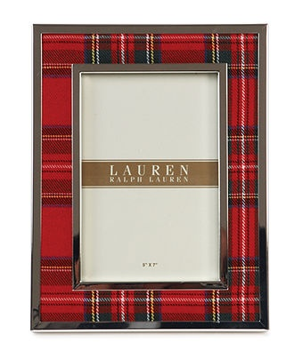 """Lauren Ralph Lauren Picture Frame, Clearly Tartan 5"""" x 7"""" - Home Decor and Gifts - Dining & Entertaining - Macy's"""