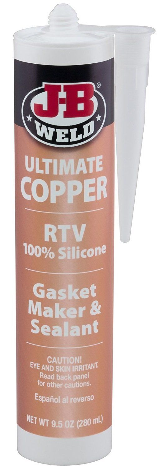 J-B Weld 32925 Ultimate Copper RTV Silicone Gasket Maker and Sealant, 9.5 Oz