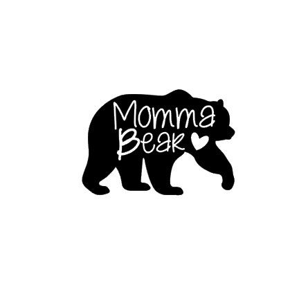 Are you a momma bear with an adorable baby cub? If so this decal is perfect from you. This decal is made from high quality vinyl and you can