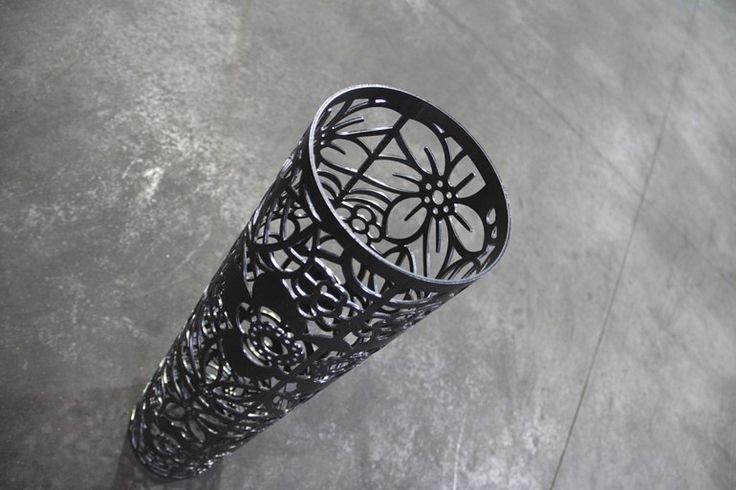 tubo diametro 200 mm tagliato con laser