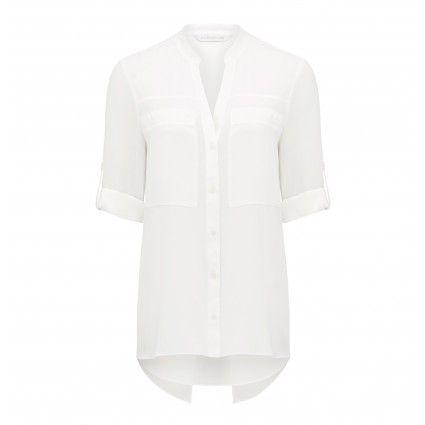 Chiara Contrast Split Back Shirt from @forevernew @westfieldnz #backtowork