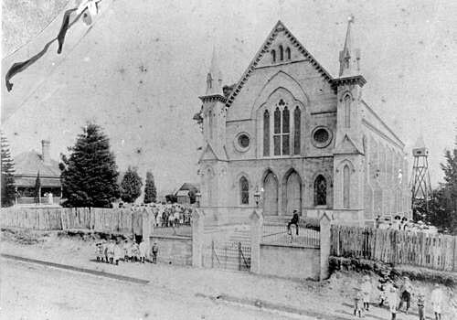 Surface Hill Uniting Church (formerly Methodist) on Channon St,Surface Hill in Queensland in 1900. State Library of Queensland. 🌹