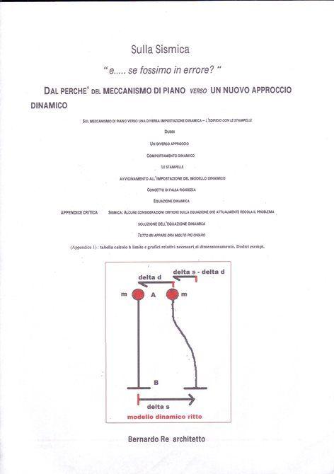 """Sulla Sismica: """"e ...... se fossimo in errore?"""" - """"L'EDIFICIO CON LE STAMPELLE"""", Formia, 2016 - bernardo re"""