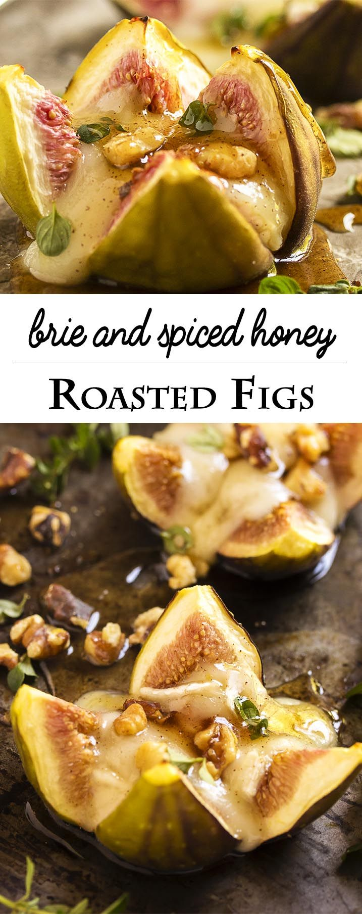 Fig Appetizer With Brie and Spiced Honey Just a Little Bit of Bacon