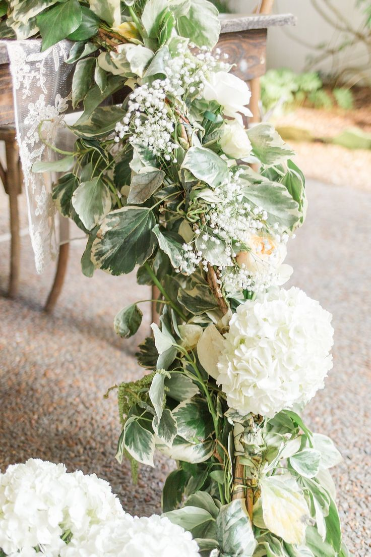 Enchanted Florist | Overgrown Garland Garden | Real Wedding at CJ's Off the Square