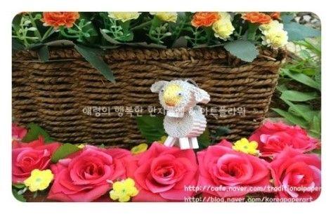 골판지공예 강아지라 불리우는 양 (아트플라워 조화공예 한지꽃 지화 종이꽃 페이퍼플라워 코사지 에바폼) : 네이버 블로그