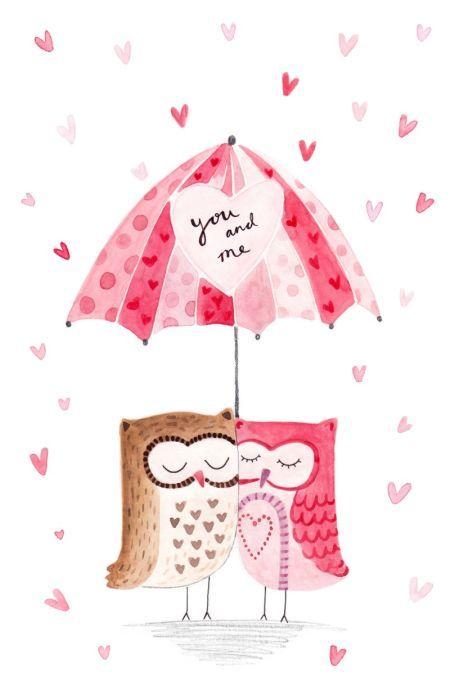 Felicity French - FF Owls Under Umbrella