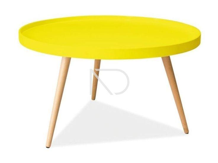 Stolik LARA M - żółty - Nordic Decoration Home