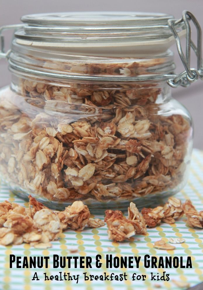 Peanut Butter and Honey Granola recipe.  It's low calorie with no added oil and sugar free.