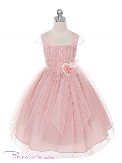Pink blush flower girl dresses