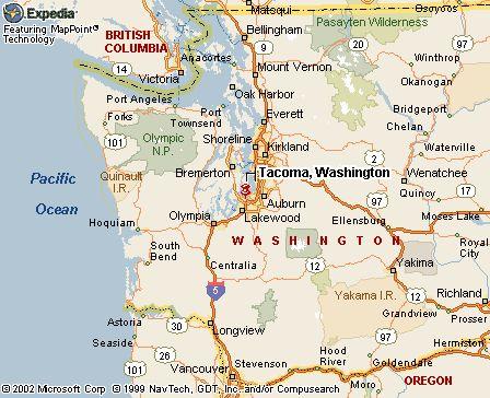 Street map Tacoma Washington