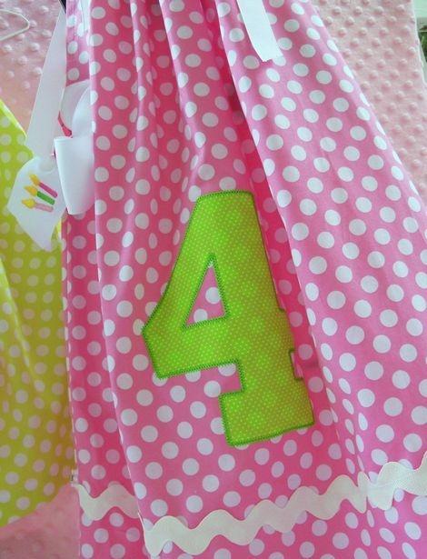 pretty pillowcase dress....: Birthday Dresses, Birthday Girls