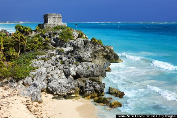 2. Tulum Beach, Mexico Mayan ruins and craggy cliffs make this a favorite of model Cara Delevingne.
