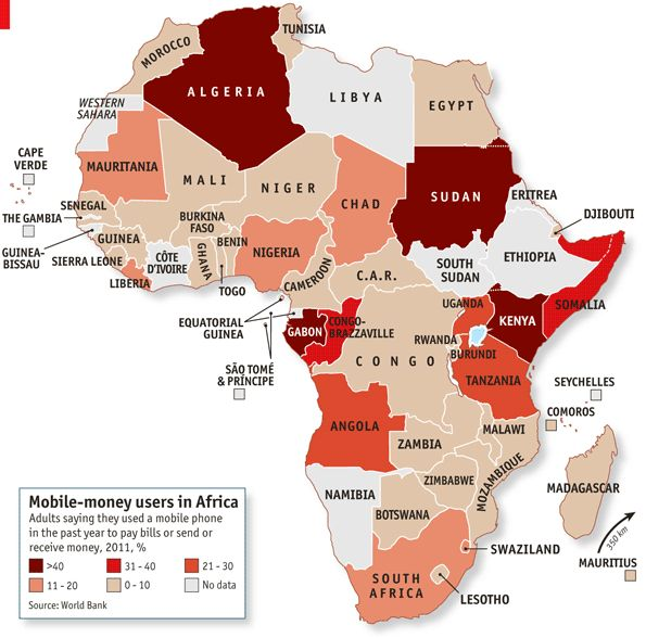mobile money is hugely popular in africa!