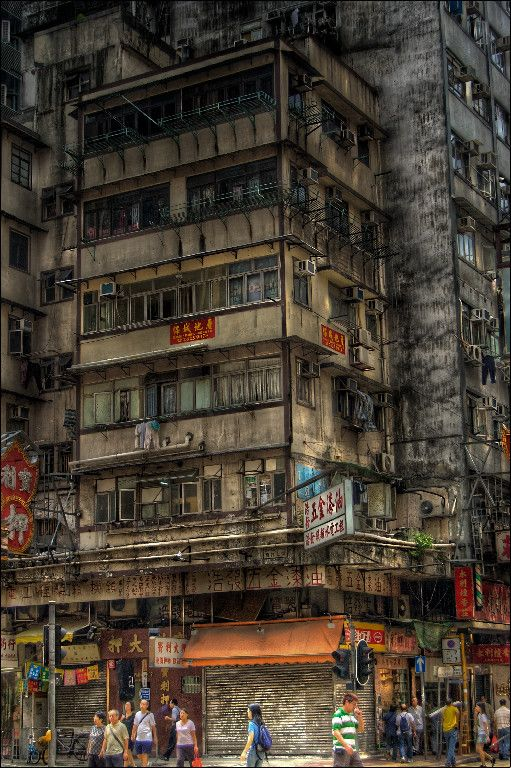 photography of old building in Kowloon City, Hong Kong by 3vilCrayon on deviantart