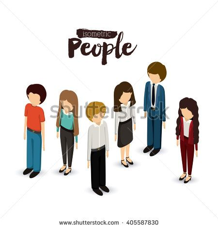 isometric people design  - stock vector