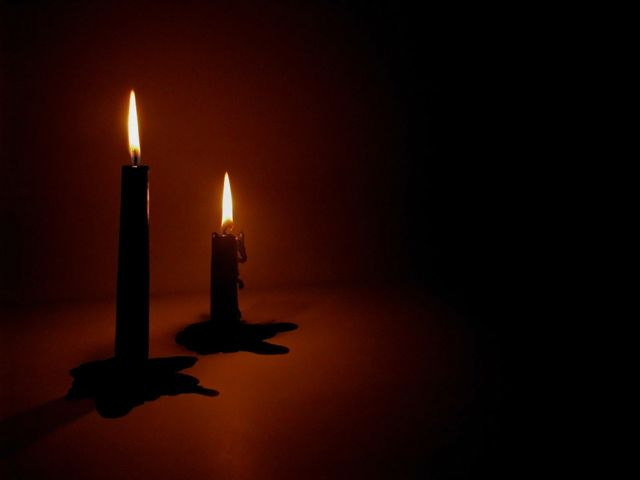 Gothic Candle Wallpaper Candles On Black Background Dark