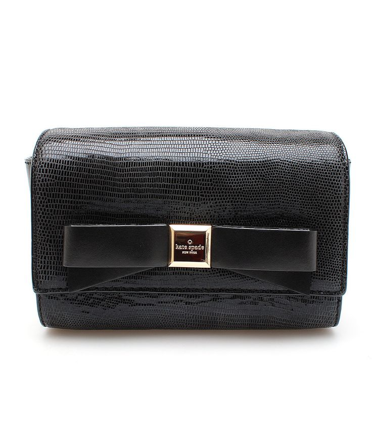 Look at this Kate Spade Black Lillian Montford Park Exotic Leather ...