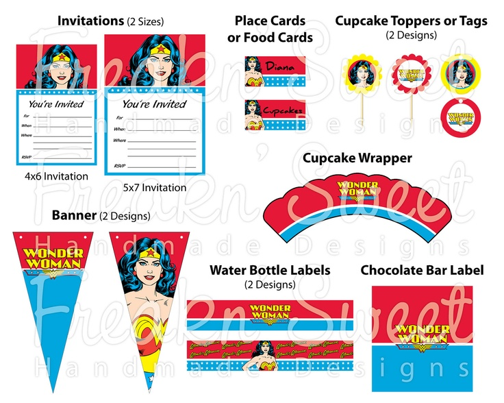 144 best Wonder Woman Birthday Party images on Pinterest