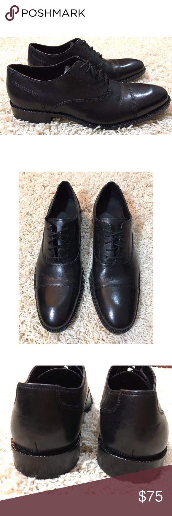 Men's Cole Haan Oxford Dress Shoes A gorgeous pair of Men's Cole Haan cap toe dress shoes. Size 10 1/2 Medium. Color is Black. Excellent Like New condition. 110716GW1220 (I) Cole Haan Shoes Oxfords & Derbys