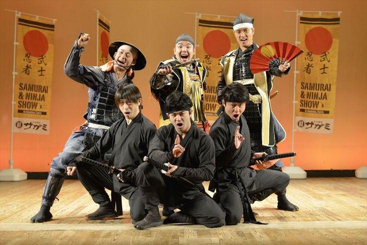 Ninjas and samurai warriors show their fighting spirit!