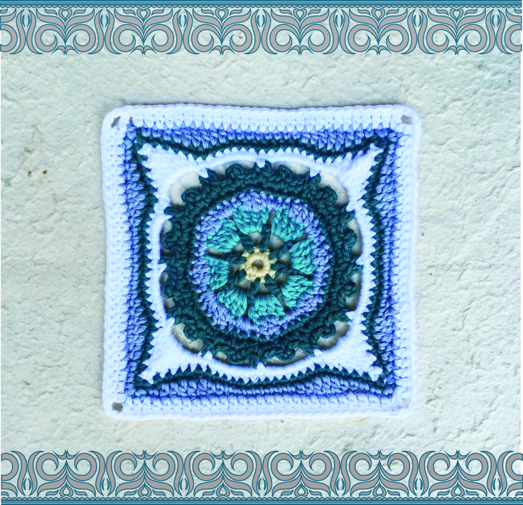 Square 2 in 9 squares in 9 weeks http://www.vrouekeur.co.za/english/english-patterns/moroccan-crochet-square-2