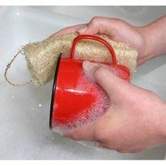 faire sa vaisselle avec éponge végétale luffa loofah