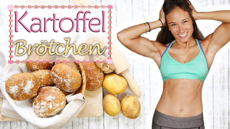 Brötchen selber backen - SUPER gesund - Kartoffelbrötchen - vegan - klap...