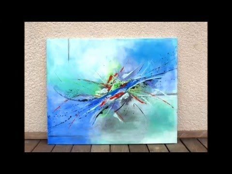 Video demonstration of abstracts painting - YouTube
