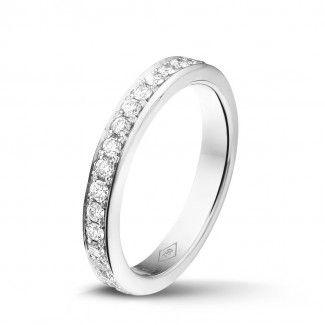 Witgouden Diamanten Ringen - 0.68 caraat diamanten alliance (volledig rondom gezet) in wit goud
