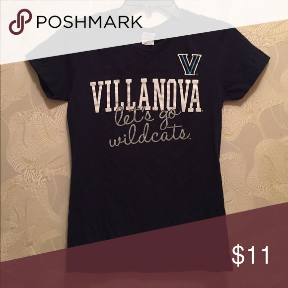 Villanova Womens T Shirt Worn Once Villanova University Wildcats Tee Size Women's Small. Worn once. Cold washed & air dried. Great condition. Purchased in 2016. Smoke free home. Tops Tees - Short Sleeve