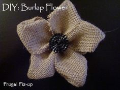 how to make a #Burlap Flower. www.frugalfixup.com