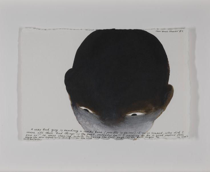Nedko Solakov Kitap Hikâyeleri (2013) Kâğıt üzerine sepya, siyah ve beyaz mürekkep ve lavi 7 çizimden oluşan dizi, her biri 19 x 28 cm Özel Koleksiyon Book Stories (2013) Sepia, black and white ink, and wash on paper Series of 7 drawings, each 19 x 28 cm Private Collection