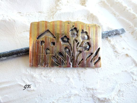 Country Style Mixed Metal Handmade Brooch by GeorgiaCollection, €65.00