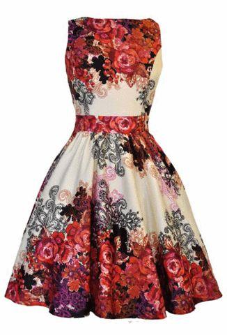 Whatta bargain!! Lady V London Rose Floral Tea Dress
