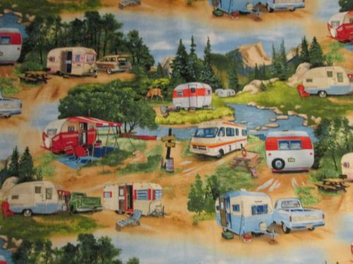 RETRO-VINTAGE-TRAILER-RETRO-TRAILERS-TRUCK-MOUNTAINS-COTTON-FABRIC-FQ