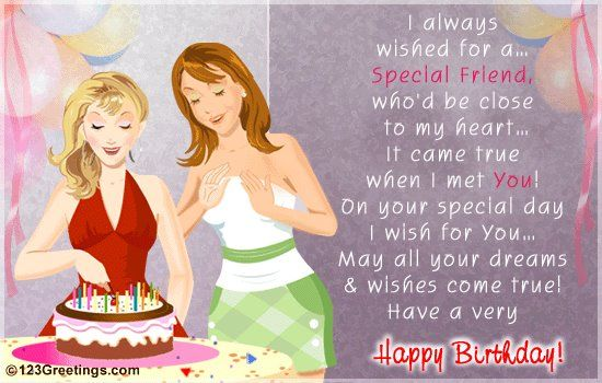 Quotes For Special Friends Birthday Happy birthday wishes for a – Birthday Greetings for a Friend Quotes