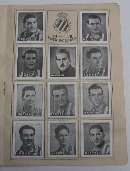 R.C.D. Español. Cromos Editorial Cisne 1942-43. Liga Española.