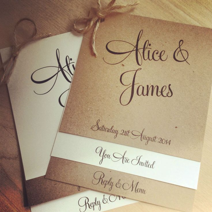 1 vintage/shabby chic 'Alice' Wedding Invitation with RSVP & optional menu in Home, Furniture & DIY, Wedding Supplies, Cards & Invitations | eBay!