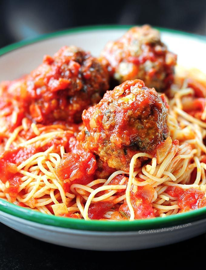 Classic Spaghetti and Meatballs are always a favorite for supper and when it's a recipe adapted from the fabulous Lidia Matticchio Bastianich you can't go wrong.