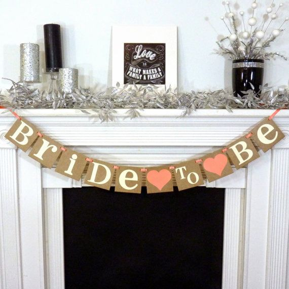 Bridal Shower Banner- Bridal Shower Decorations / Bride To Be Banner / Wedding Garland / Bachelorette Sign / Wedding Decorations / Backdrop