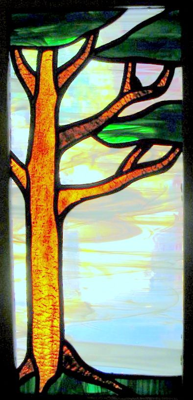 Custom stained glass front door insert. Original design by Kelly Haggard Olson. All Rights Reserved.