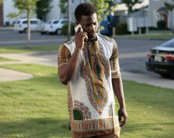 African clothing Black Dashiki For Men's African dashiki by Quistt