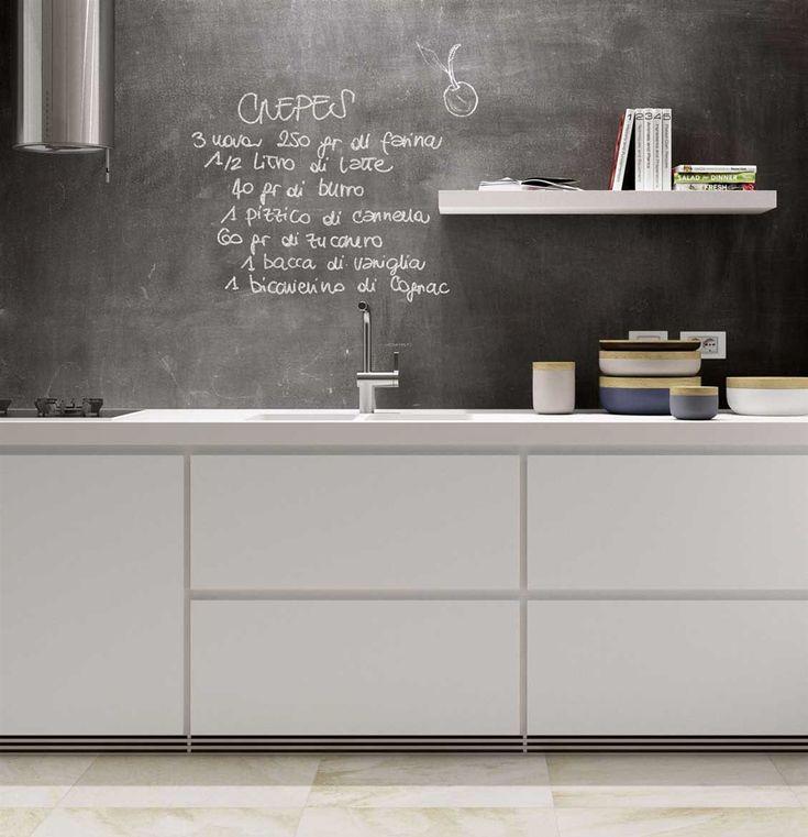 Oltre 25 fantastiche idee su rivestimento della parete su - Parete lavagna cucina ...